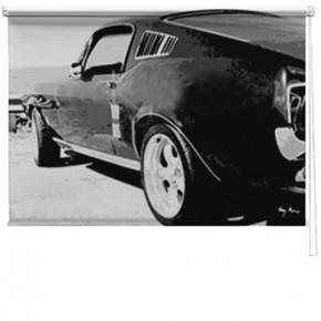 Mustang car printed blind