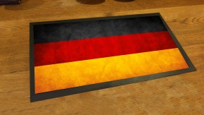 German flag bar runner mat