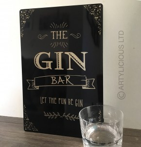 The Gin Bar Gold edition Metal Sign