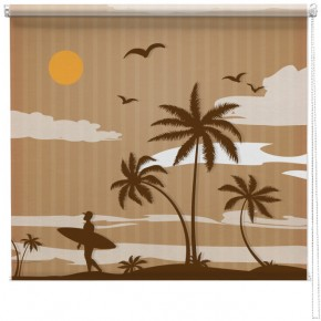 Retro surf scene printed blind