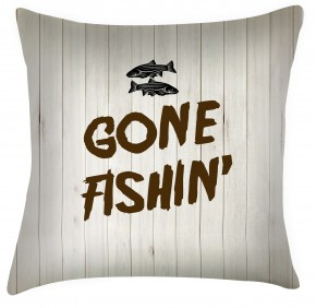 gone fishing cushion