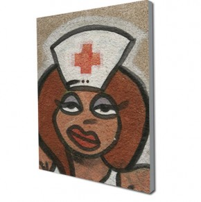 Graffiti nurse canvas art