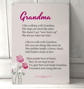 Grandma poem metal sign