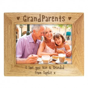 Personalised 5x7 Grandparents Wooden Frame