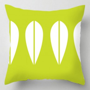 Green deco 50's cushion