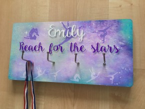 Personalised Gymnastics/Dance Medal hook display board