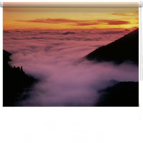 Hazy mountain view blind