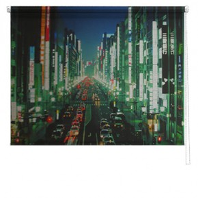 Hong Kong street printed blind