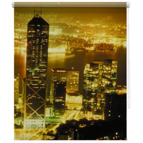 Hong Kong skyline printed blind