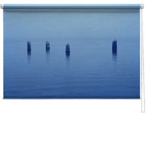 Seascape printed blind