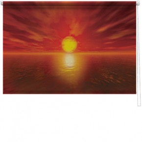 Red Sunset printed blind
