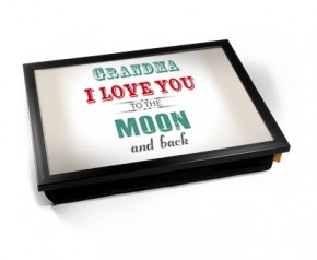 Grandma I love you to the moon and back laptray