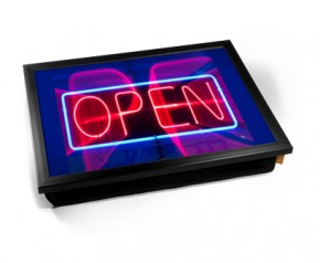 Neon Open sign laptray