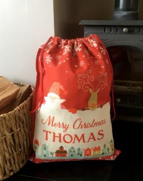 Personalised printed Santa sack