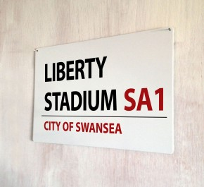 Liberty Stadium Swansea Street Sign