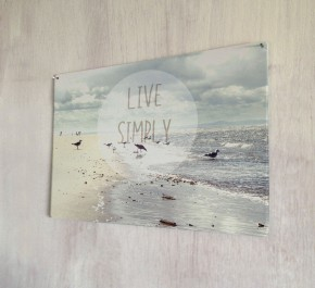 Live Simply quote metal sign