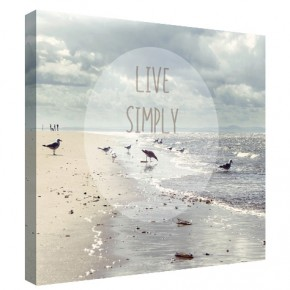 Live Simply canvas art