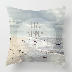 Live SImply inspirational quote cushion