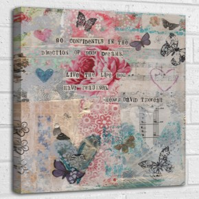 Go confidently in the direction of your dreams, live the life you imagined - Henry David Thoreau quote canvas