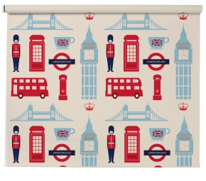 London Icon pattern blind