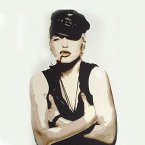 Madonna printed blind