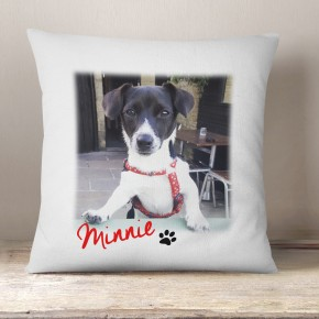 Personalised Photo white cushion