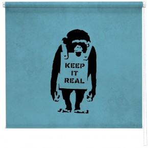 Banksy chimp blind