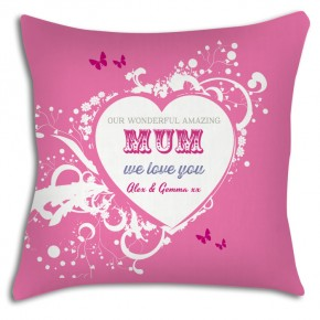 Wonderful Mum personalised cushion, great Mothers day gift
