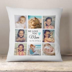 Personalised Mum gift, Photo collage cushion