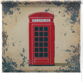 Red Telephone box printed blind martin wiscombe