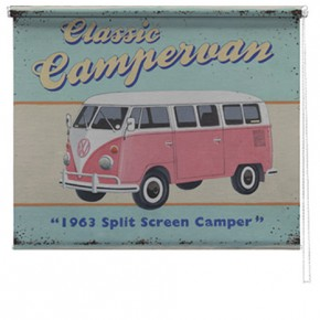 Classic Campervan printed blind Martin wiscombe