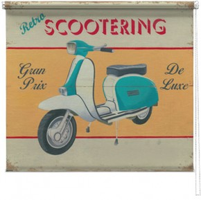 Scooter printed blind martin wiscombe