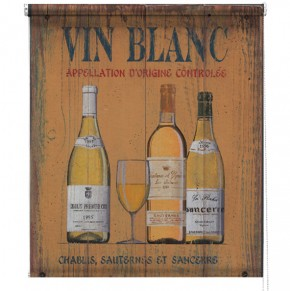 Vin Blanc printed blind martin wiscombe