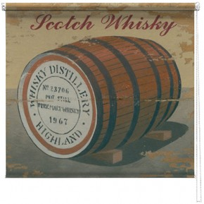 Scotch Whisky printed blind martin wiscombe