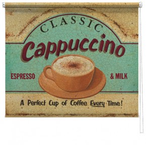 Cappuccino printed roller blind martin wiscombe