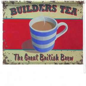 Builders Tea printed blind martin wiscombe
