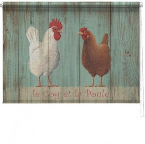 Le Coq poule printed blind martin wiscombe