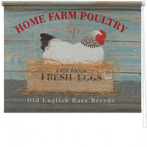 Home Farm Poultry printed blind martin wiscombe