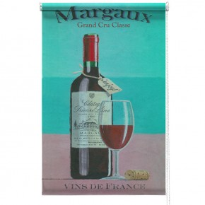 Red Wine printed blind martin wiscombe