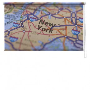 New York map printed blind