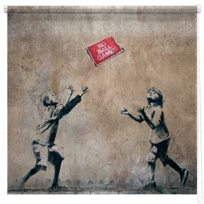 Banksy no ball games printed blind