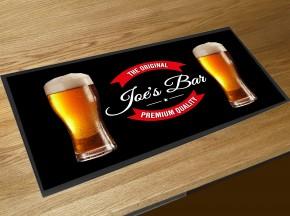 Personalised name pints bar runner