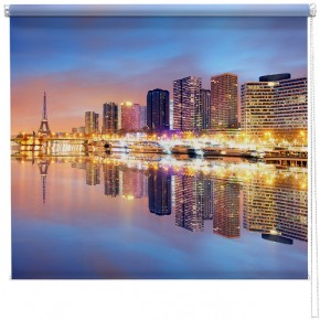 Paris skyline sunset printed blind