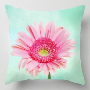 Pastel gerbera flower cushion