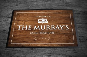 Personalised wood effect Caravan Door Mat