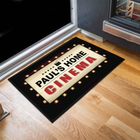 Personalised Home Cinema Door Mat