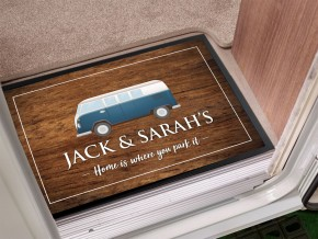Personalised Camper van Door Mat