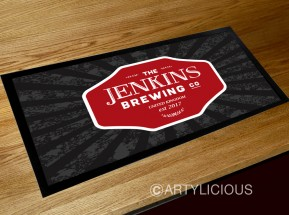 Personalised Brewery bar runner mat