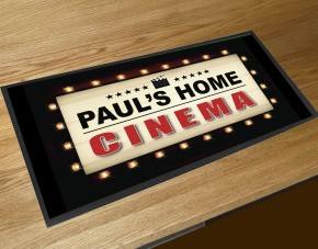 Personalised Home Cinema bar runner mat