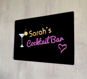 Personalised Cocktail Bar Sign